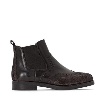 Boots cuir Chelsea Exclusivité La Redoute Boots cuir Chelsea Exclusivité La Redoute JONAK
