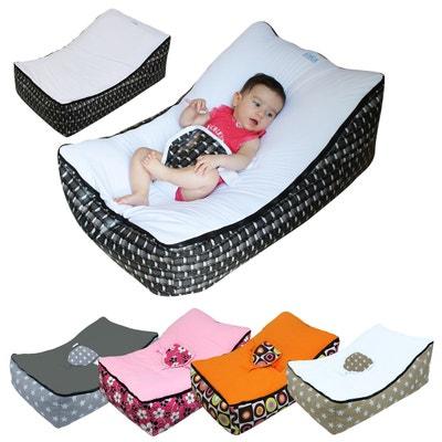 Transat pouf bébé avec 2 poches de rangement, poignée de transport et 2 assises Transat pouf bébé avec 2 poches de rangement, poignée de transport et 2 assises MONSIEUR BEBE