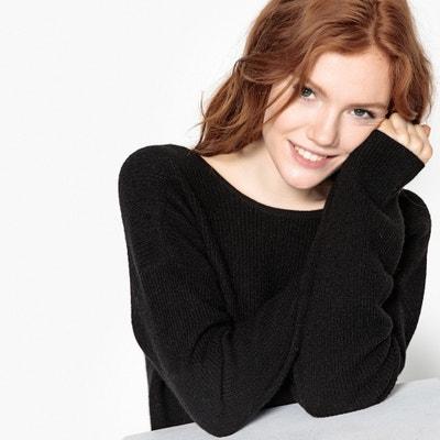 Ribbed V-Back Cashmere Jumper/Sweater Ribbed V-Back Cashmere Jumper/Sweater La Redoute Collections