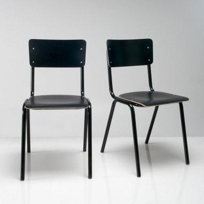 Chaise d'écolier (lot de 2), HIBA Chaise d'écolier (lot de 2), HIBA LA REDOUTE INTERIEURS
