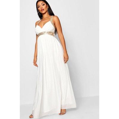 collection robe maxi en tulle à empiècements en sequins BOOHOO