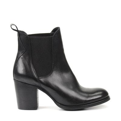 de29ee20bc17e Chelsea boots en cuir avec talon cubain SACHA