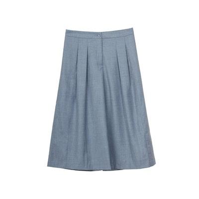 Jupe culotte en laine mi mollet street style chic pantacourt hiver Jupe  culotte en laine mi. SUNDAY LIFE 5481e7a43f45