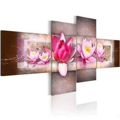 Tableau - 4 tableaux - Nénuphars 100 x 45 Tableau - 4 tableaux - Nénuphars 100 x 45 ARTGEIST