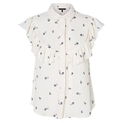 Floral Print Shirt with Ruffles VERO MODA