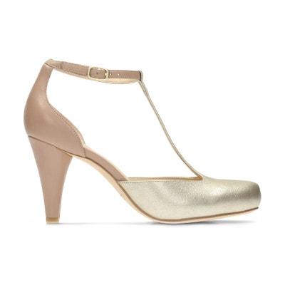Dalia Tulip Leather T-Bar Shoes CLARKS