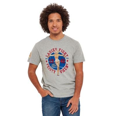 fe9d9ee574b45 T-shirt à manches courtes avec imprimé pin-up Knock Out Joe Browns Homme