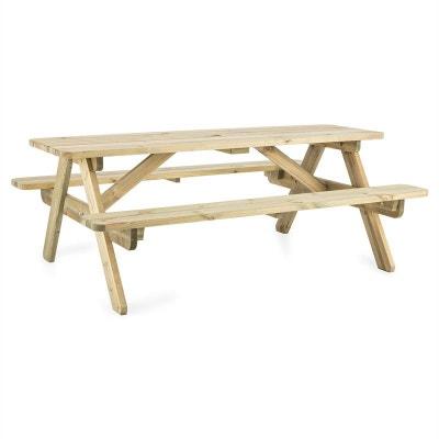 blumfeldt 180 table pique nique mobilier jardin table banc 32mm bois fsc blumfeldt 180 table - Mobilier Jardin Bois