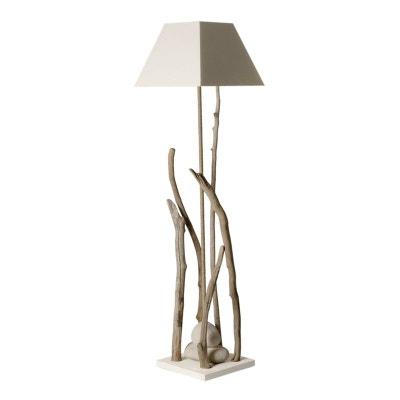 Pied Lampe Bois Brut En Solde La Redoute