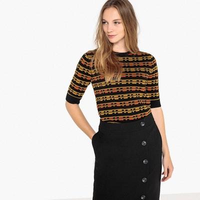 Пуловер с круглым вырезом и короткими рукавами Пуловер с круглым вырезом и короткими рукавами MADEMOISELLE R
