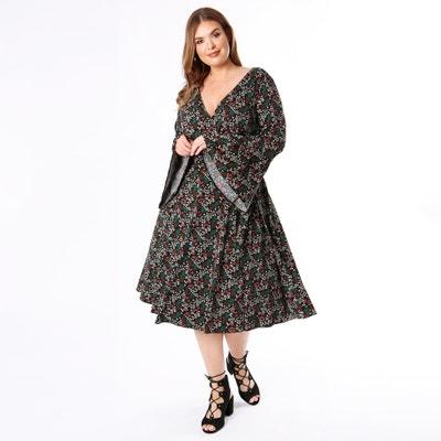 Robe cache-cœur, imprimé floral Robe cache-cœur, imprimé floral KOKO BY KOKO
