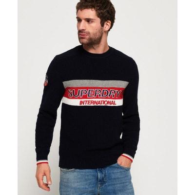 3583e4976d9cc Superdry Pull ras du cou à logo texturé New Athletic Superdry Pull ras du  cou à
