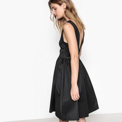Satin Skater Dress with Low-Cut Back Satin Skater Dress with Low-Cut Back MADEMOISELLE R