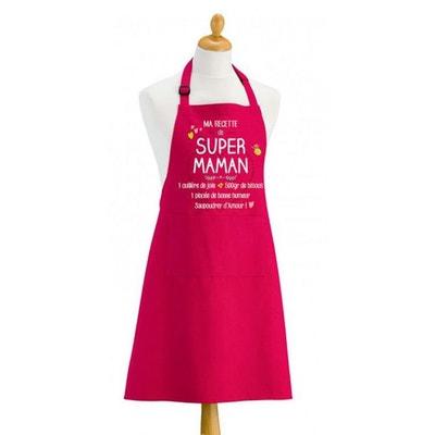 Tablier SUPER MAMAN Tablier SUPER MAMAN TORCHONS ET BOUCHONS
