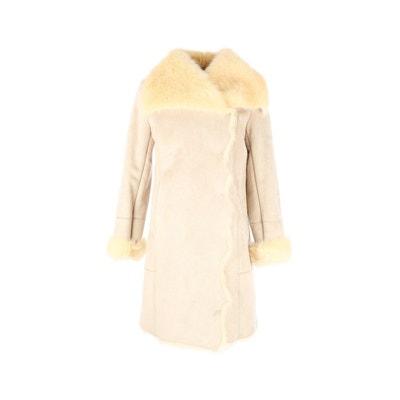 Manteau long avec fausse fourrure. Poche - Bradeau DERHY 230c9e0d06d9