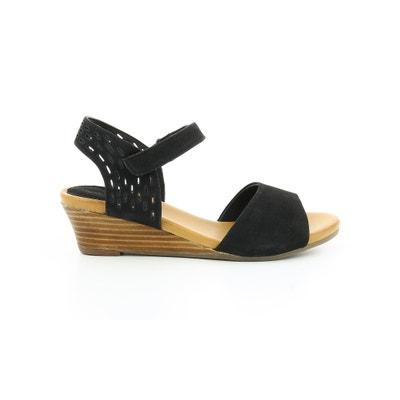 Leren sandalen met sleehak Liane Leren sandalen met sleehak Liane HUSH PUPPIES