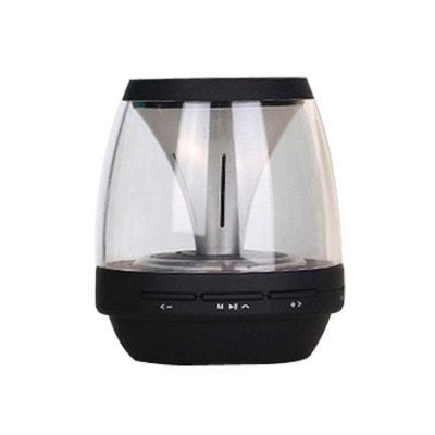 Enceinte portable sans fil Bluetooth LED lumineuse kit main libre noir Enceinte portable sans fil Bluetooth LED lumineuse kit main libre noir Yonis