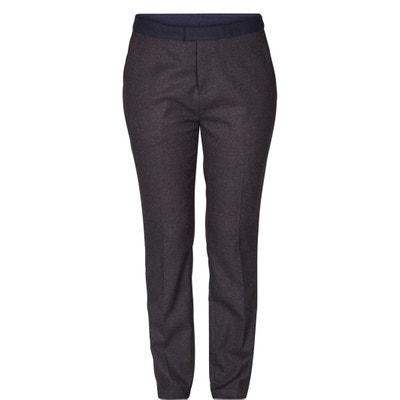 Rechte broek met contrasterende tailleband NUMPH