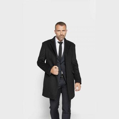 Manteau long laine noir en solde   La Redoute 023294375b85