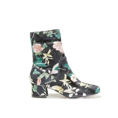 Boots à talon, imprimé fleurs ROTHER ESSENTIEL ANTWERP