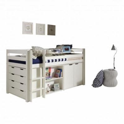 lit mezzanine avec rangement - Lit Superpose Avec Rangement