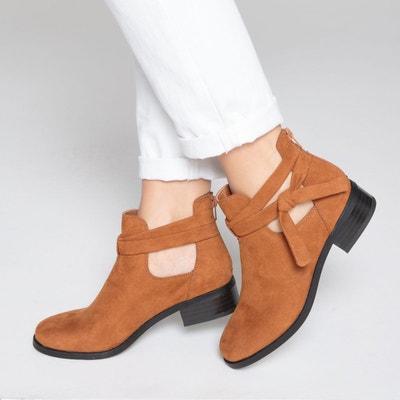 Boots ouvertes sur le côté, détail nœud La Redoute Collections