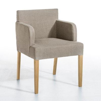 fauteuil de table victor pur lin ampm - Fauteuil De Table