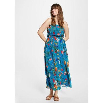 Robe longue florale VIOLETA BY MANGO