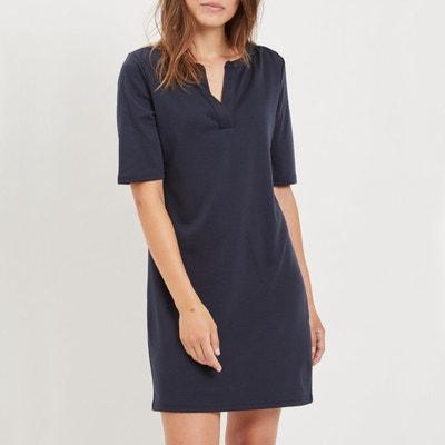 Rechte jurk met korte mouwen Rechte jurk met korte mouwen VILA