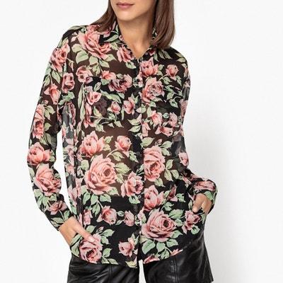 Camisa transparente, estampado rosas Camisa transparente, estampado rosas THE KOOPLES