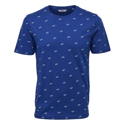 T-shirt met ronde hals en motief vooraan, Onssebastian ONLY & SONS