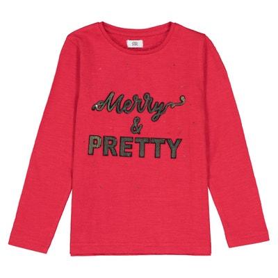 """Longsleeve mit Pailletten-Motiv """"Merry & Pretty"""", 3-12 Jahre Longsleeve mit Pailletten-Motiv """"Merry & Pretty"""", 3-12 Jahre La Redoute Collections"""