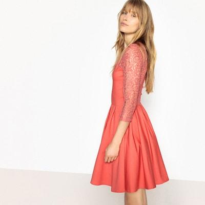 Платье расклешенное с нижней юбкой и спинкой из кружева Платье расклешенное  с нижней юбкой и спинкой c6c13b49ffc