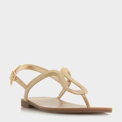Sandales plates à entredoigt et boucle - LINQ DUNE LONDON