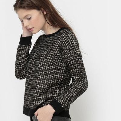 Pullover mit Rundhalsausschnitt und Metallic-Fäden