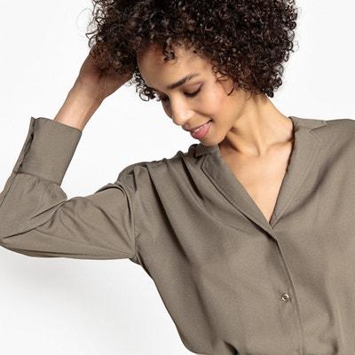 Camisa lisa, mangas compridas, gola de alfaiate Camisa lisa, mangas compridas, gola de alfaiate La Redoute Collections