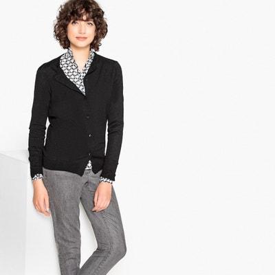 Cardigan scollo rotondo in lana mérinos Cardigan scollo rotondo in lana mérinos La Redoute Collections