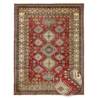 tapis dorient nou main kazak teinture vegetale laine tapis dorient nou - Tapis Oriental Rouge