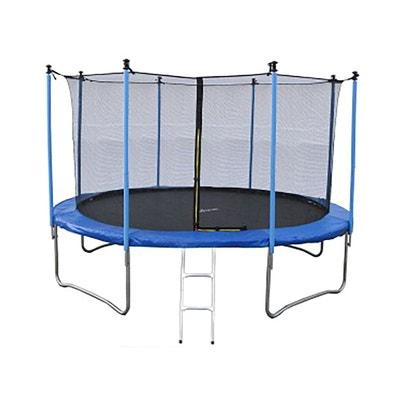 Trampoline Jump4Fun Classique 14FT 12 Perches Bleu JUMP4FUN