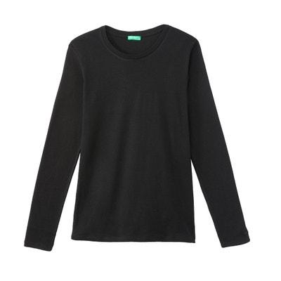 Camiseta con cuello redondo de manga larga Camiseta con cuello redondo de manga larga BENETTON