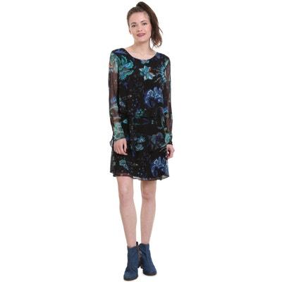 Платье из вуали с цветочным принтом, укороченное, расклешенного покроя Платье из вуали с цветочным принтом, укороченное, расклешенного покроя DESIGUAL
