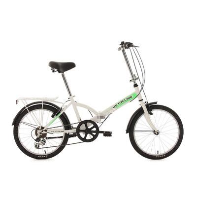 Vélo pliant 20'' Classic blanc TC 34 cm KS