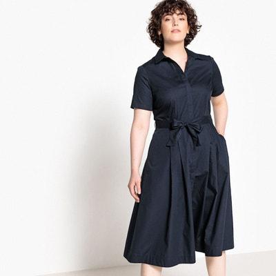 Robe chemise soie