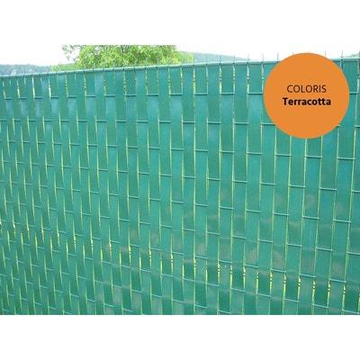 Lanière PVC pour palissade largeur 43 mm x 60 m+100 clips- Terracotta Lanière PVC pour palissade largeur 43 mm x 60 m+100 clips- Terracotta JARDIDECO