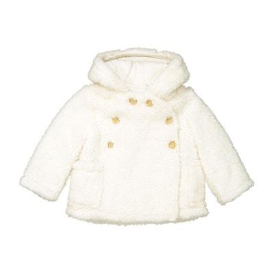 Manteau capuche boutonnée 1 mois - 3 ans La Redoute Collections