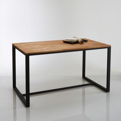Table 4 couverts, chêne et acier, Hiba Table 4 couverts, chêne et acier, Hiba LA REDOUTE INTERIEURS