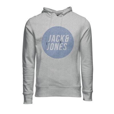 Sweat à capuche avec imprimé devant JACK & JONES