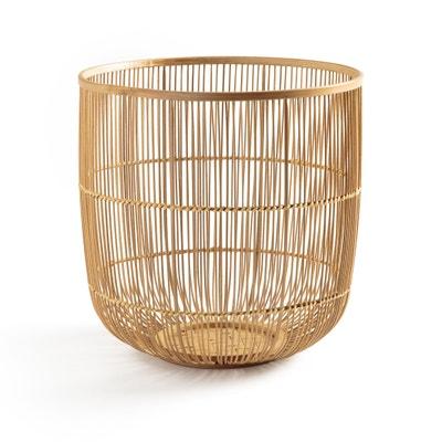 Papelera de bambú trenzado Al. 25 cm Milise Papelera de bambú trenzado Al. 25 cm Milise AM.PM.