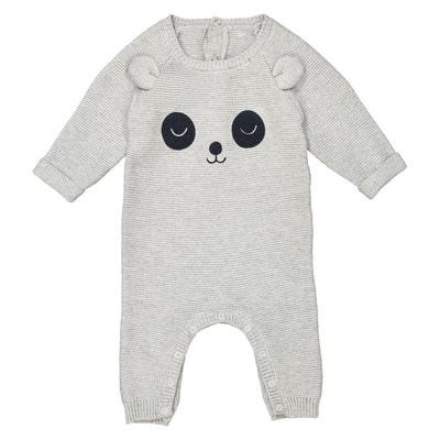 Combinaison en tricot placé panda 0 mois- 2 ans Combinaison en tricot placé panda 0 mois- 2 ans La Redoute Collections