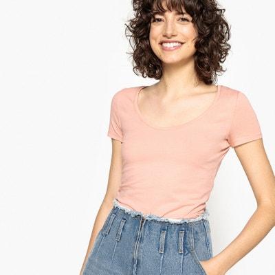 T-Shirt, grosser, runder Kragen La Redoute Collections